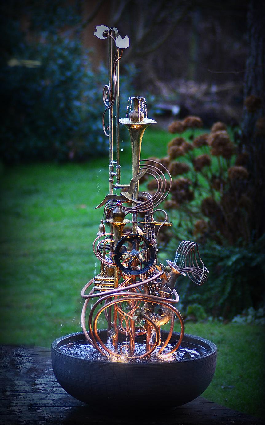 Silver Sax Fountain